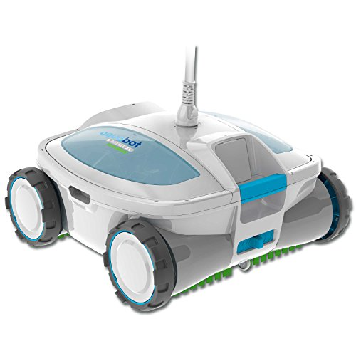 Aquabot ABREEZ4 X-Large Breeze Robotic Pool Cleaner for Above-Ground and In-Ground Pools with Scrubbers
